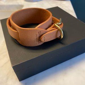 Shinola Leather Bracelet